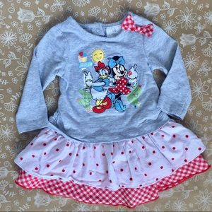 Disney Minnie and Daisy long-sleeve dress & cover